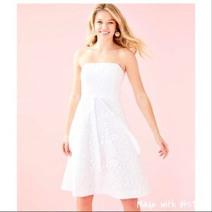 Lilly Pulitzer Sienna Strapless White Lace Dress